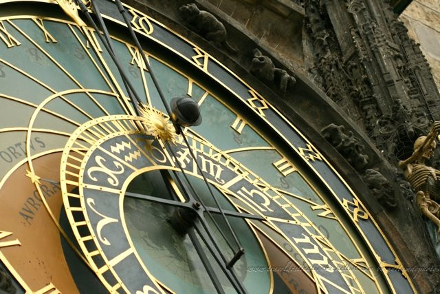 Old Town Hall Astronomical Clock face, Prague
