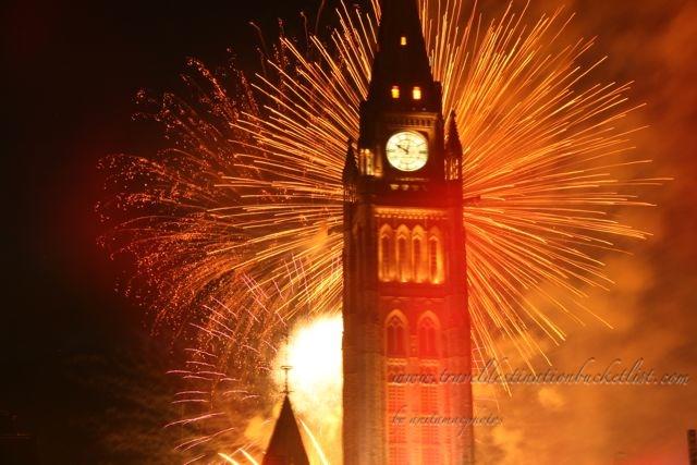 fireworks in Ottawa