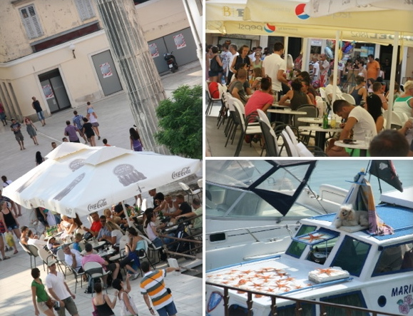 cafes and boats in Zadar