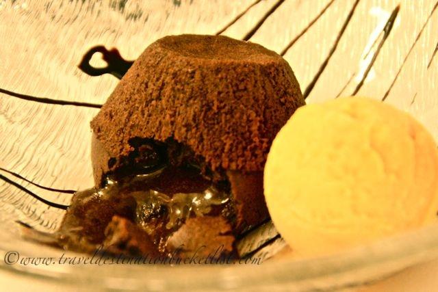 decadent dessert, Restaurant Week, San Sebastian