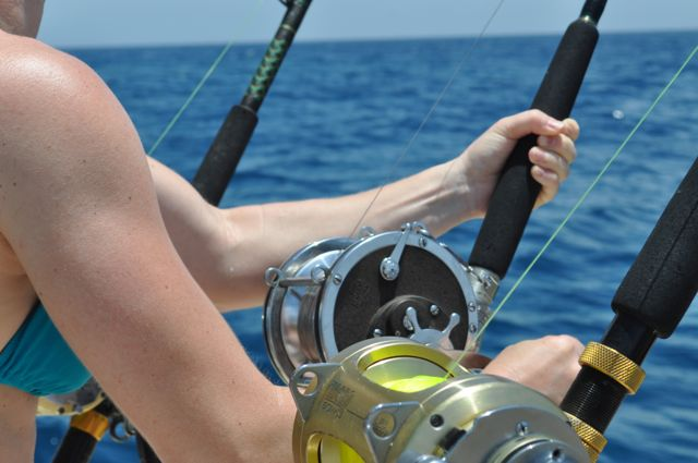 ladies deep sea fishing