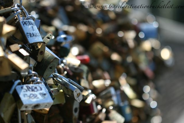Love locks at the Ponte Milvio, Rome