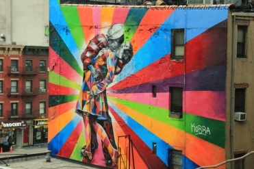 colourful street art along the High Line