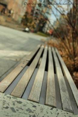 places to sit on the High Line
