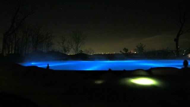 Infinity pool overlooking Ottawa