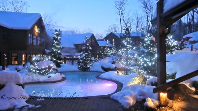hot tubs and Christmas trees