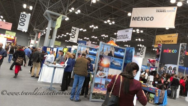 Exhibit Hall at travel show New York City