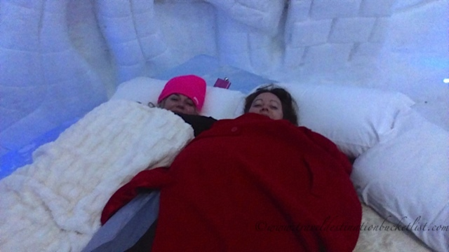 sleeping in an ice hotel