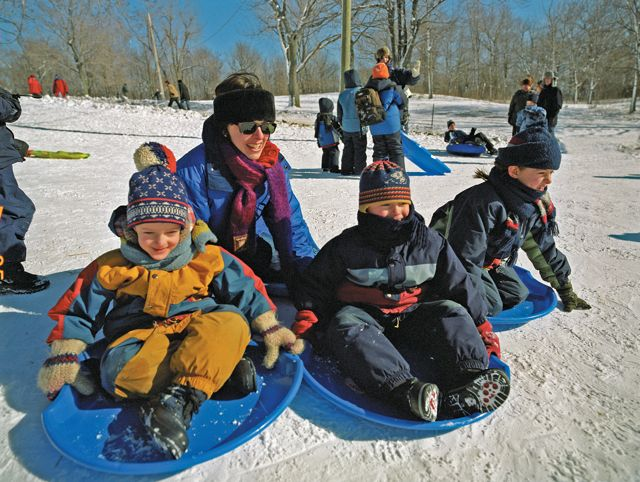 Family fun at Parc Montreal.  Photo courtesy of the Montreal Tourism Board.  Photo credit: Stephan Poulin