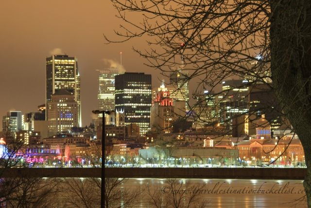 Old Montreal at night