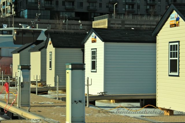 ice shanty village in Montreal