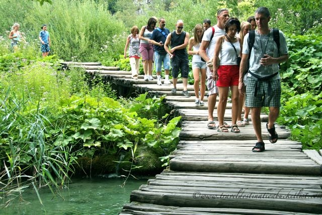 boardwalks in Plitvice Lakes National Park, Croatia