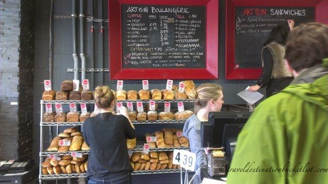 fresh bread at Art is In Bakery