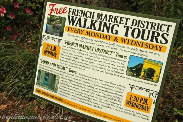 Free walking tours, New Orleans