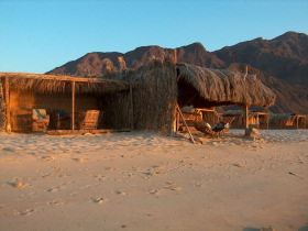 variety of accommodation in the Middle East - huts