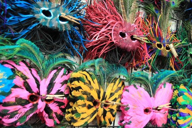 Colourful masks in New Orleans