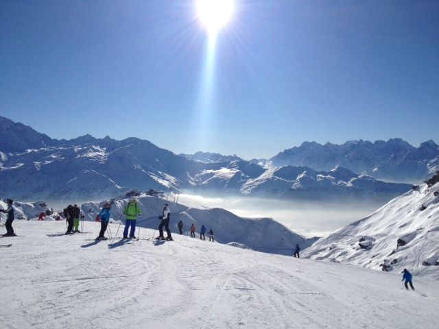 Skiing in Switzerland Photo credit to the lovely Lola, Leah and Mrs O
