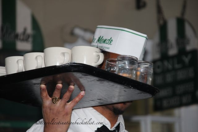 waitress at the Cafe du Monde, New Orleans