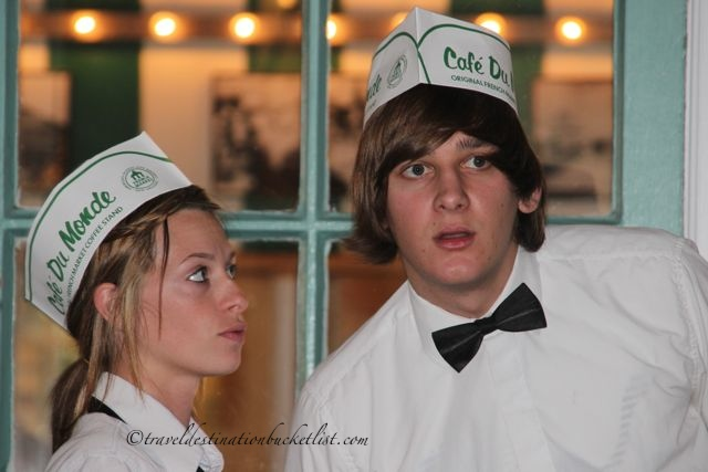servers at the Cafe du Monde, New Orleans