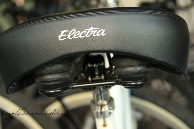 Electra bike seat, French Quarter Bike Tours