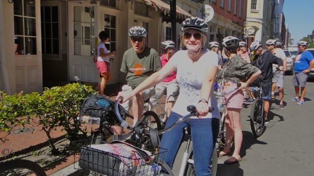 Tour group, French Quarter Bike Tours, New Orleans