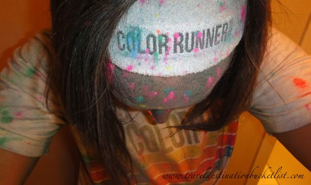 After the run - Rochester Color Run