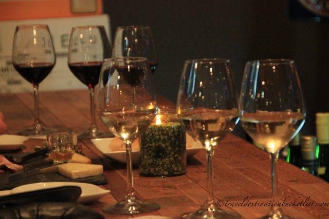 Wine flights at Flight Wine Bar, Rochester NY