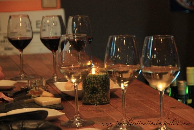 Wine and cheese flights at Flight's Wine Bar