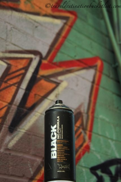 Graffiti paint can left behind in Toronto