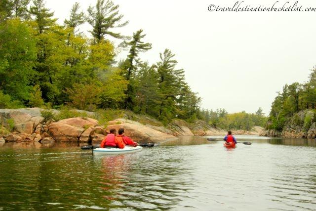 kayaking on Georgian Bay