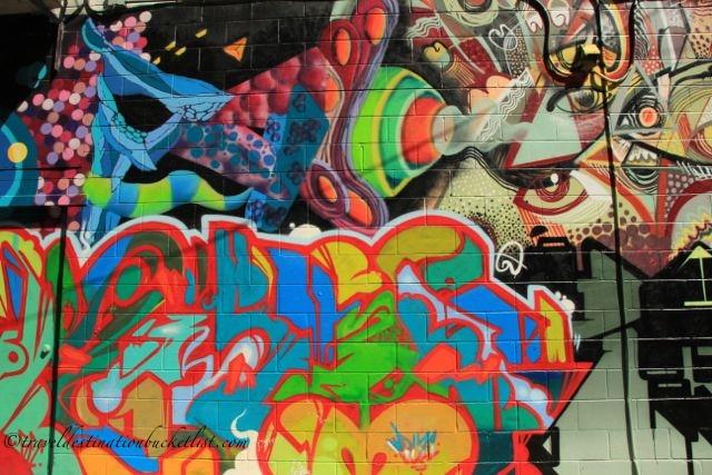Colourful urban art on the street of Toronto - Tour Guys Graffiti Tour