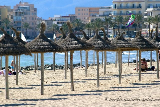 beach umbrellas at Palma de Mallorca