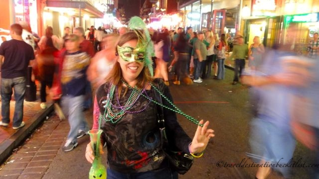 walking on Bourbon St at night, New Orleans