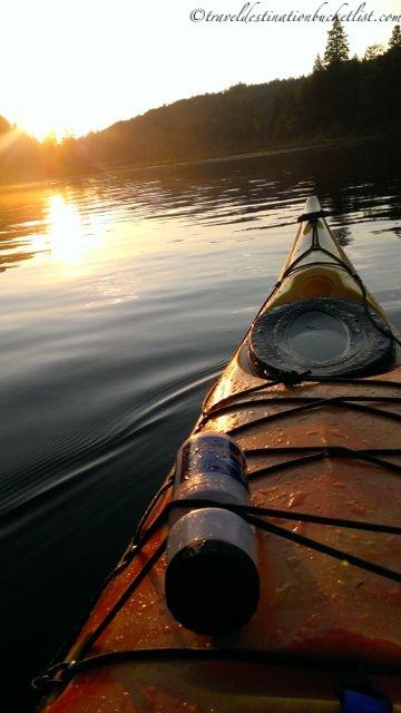 sunset kayak at Meech Lake