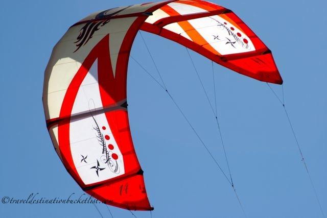 kite surfing at Palma de Mallorca