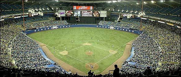 baseball at the Olympic Stadium, Montreal