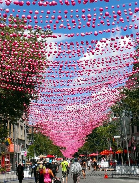 Pink Balls in Montreal
