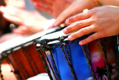 drumming on Mont Royal