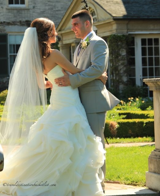 Bride and Groom at the George Eastman Estate in Rochester, NY